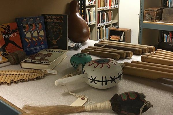 Native American musical instruments.