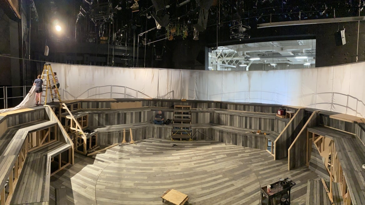 Photo of set for The Crucible production.