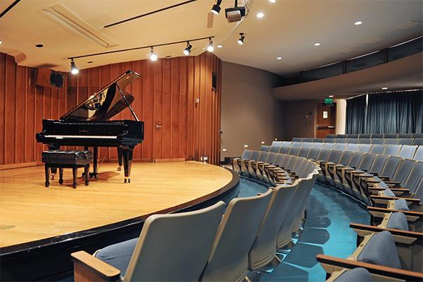 student performing in Recital Hall